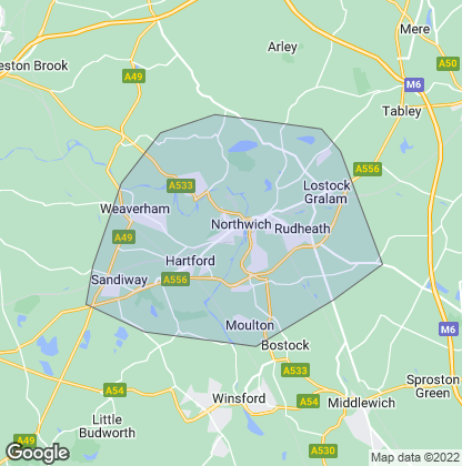 Map of property in Northwich