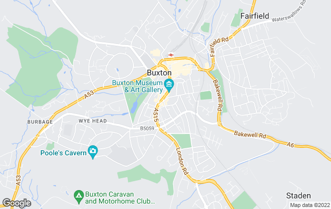 Map for Three Shires Estate Agents, Buxton