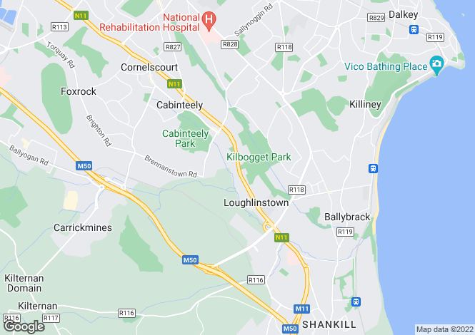 Map for 3 Bedroom Terraced Homes, Beechpark, Cabinteely, Dublin 18