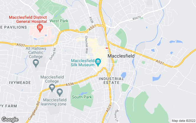 Map for Silk Property, Macclesfield