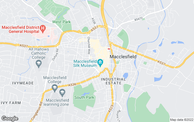 Map for Rooftops Letting & Management  , Macclesfield