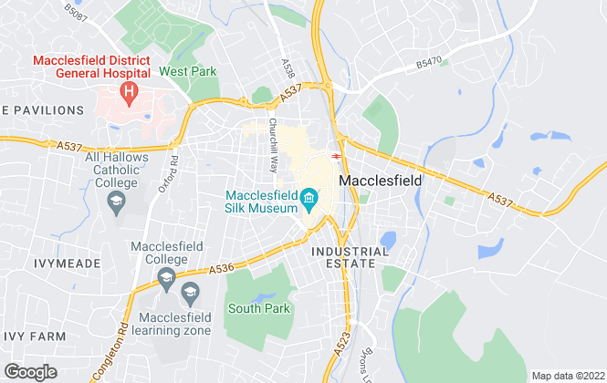 Map for Belvoir! Lettings, Macclesfield