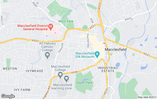 Map for Peaks & Plains Housing Trust, Macclesfield