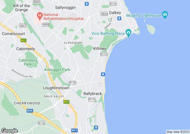 Map for Saintbury House, Killiney Hill Road, Killiney, Co. Dublin, A96 X297