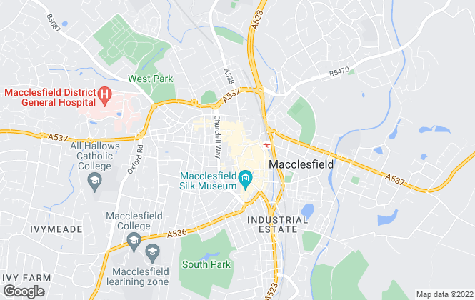 Map for Bridgfords, Macclesfield