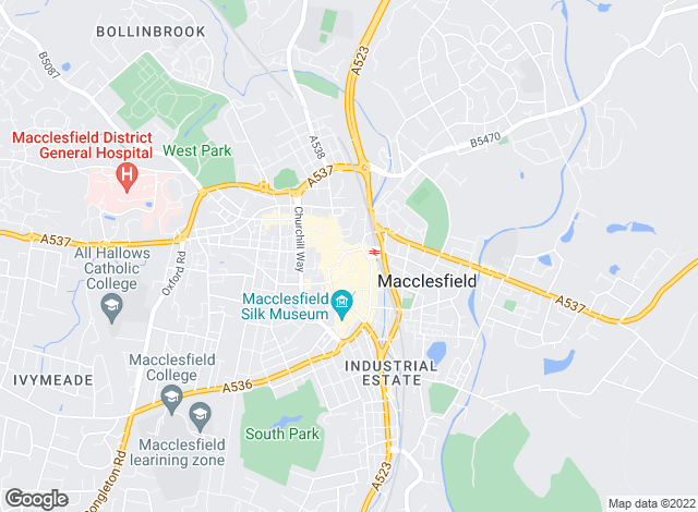 Map for Gascoigne Halman, Macclesfield