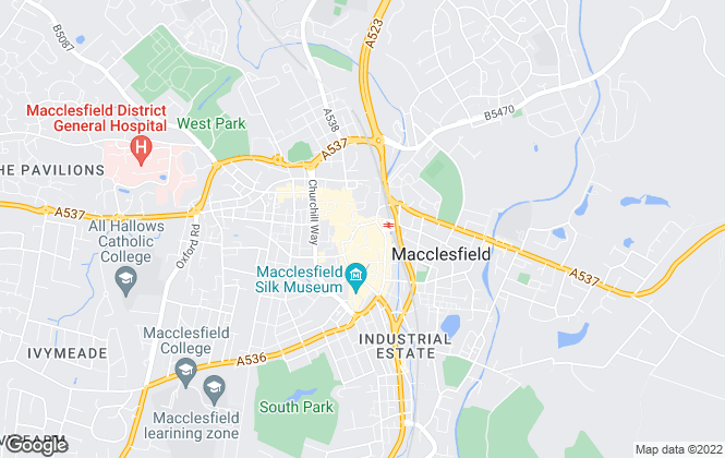 Map for Meller Braggins, Macclesfield