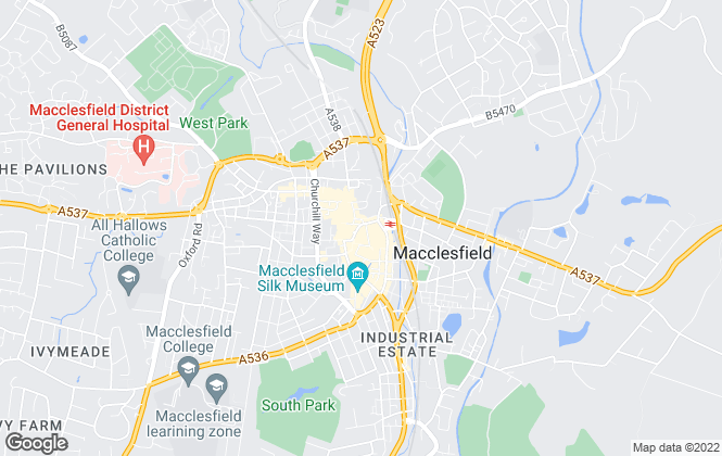 Map for Gascoigne Halman, Macclesfield Lettings