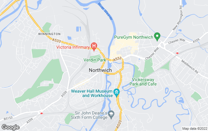 Map for Belvoir, Northwich