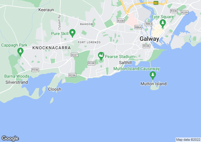 Map for Salthill, Galway