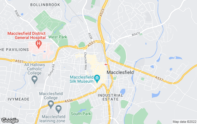 Map for Reeds Rains , Macclesfield