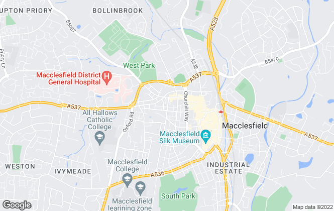 Map for Magnus Limited, Macclesfield