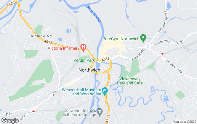 Map for Wright Marshall Estate Agents, Northwich