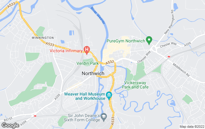 Map for Meller Braggins, Northwich