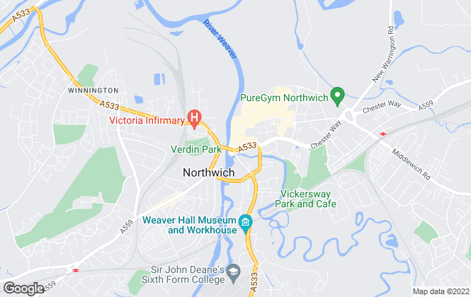 Map for Swetenhams - Lettings, Northwich - Lettings