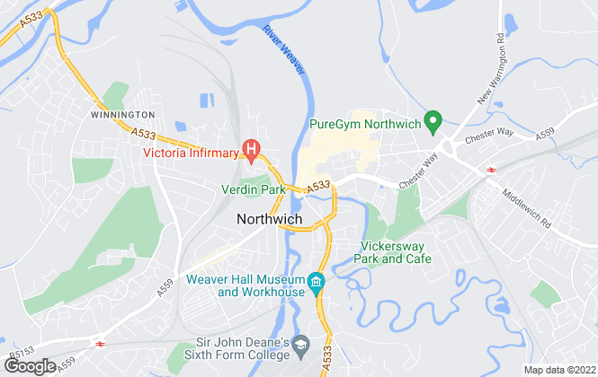 Map for Swetenhams, Northwich