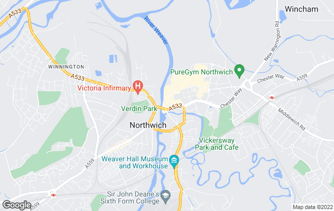 Map for Hinchliffe Holmes, Northwich