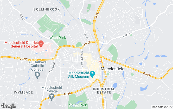 Map for Carter Knowles Ltd, Macclesfield