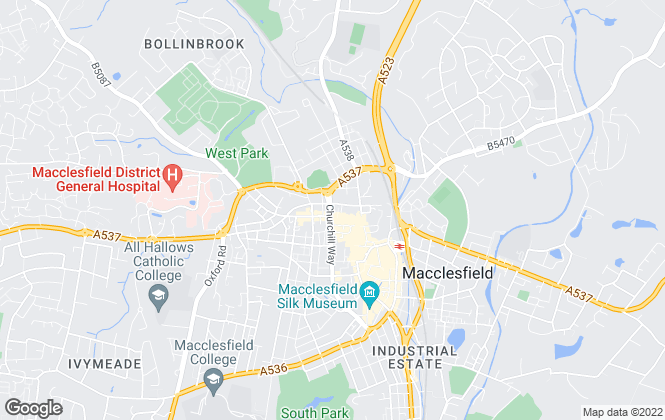 Map for Hallams Property Consultants , Macclesfield