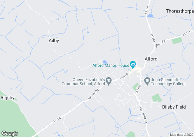 Map for Dixon Drive, Alford, Lincs, LN13