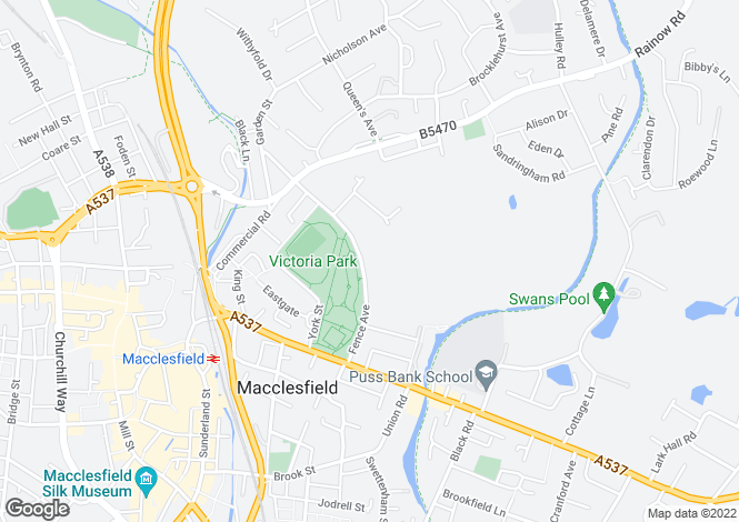 Map for 1 Parklea, Macclesfield