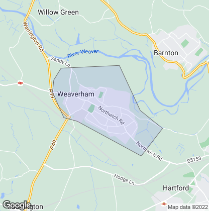 Map of property in Weaverham