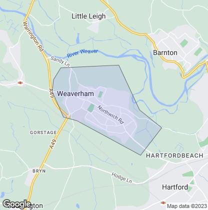 Map of property in Weaverham