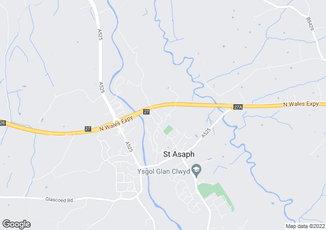 Map for St Asaph