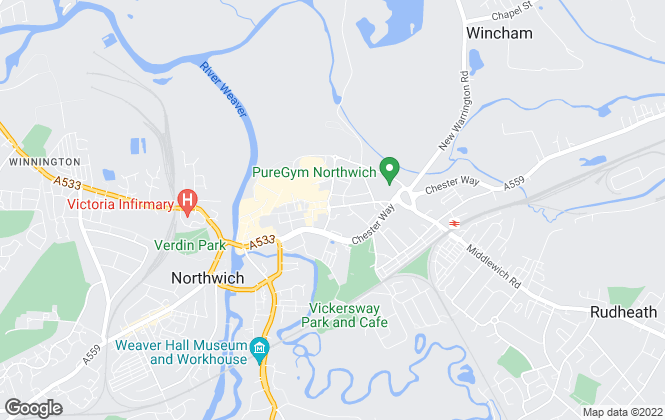 Map for Proper Lettings, Northwich