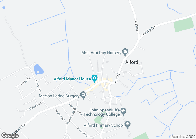 Map for 13 Park Road,