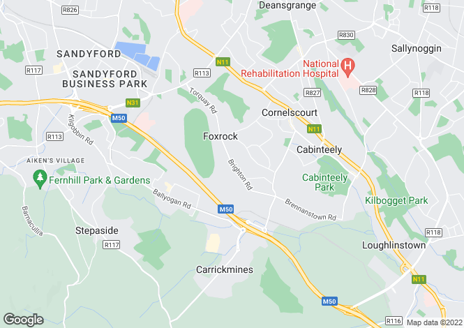 Map for Two Bed Plus Study Det - The Violet, Brighton Wood, Foxrock Village, Dublin 18
