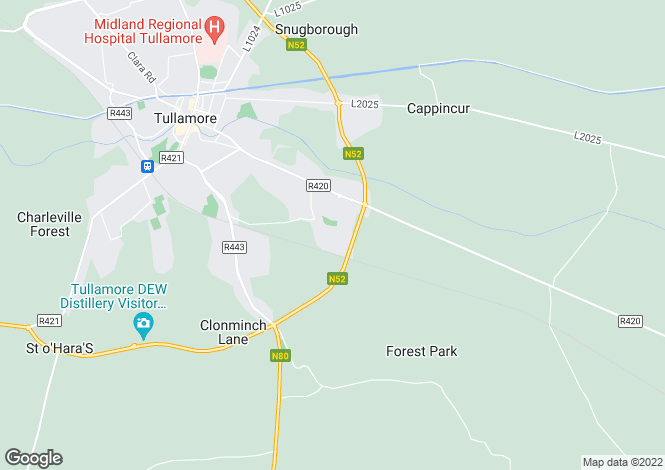 Map for 10 Chancery Park Rise, Chancery Park, Tullamore, Co Offaly