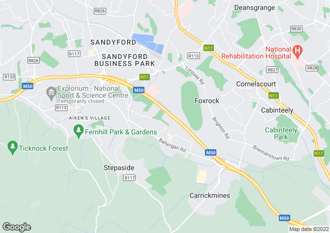 Map for The Gallops, Leopardstown, Dublin 18