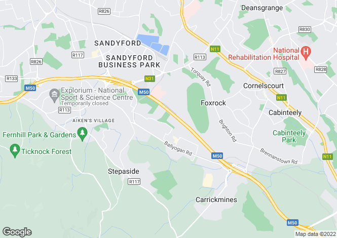 Map for Levmoss & Mimosa, The Gallops, Leopardstown, Dublin 18