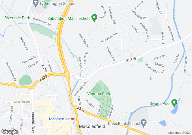 Map for Adelaide House, Adelaide Street, Macclesfield, Cheshire, SK10 2QS