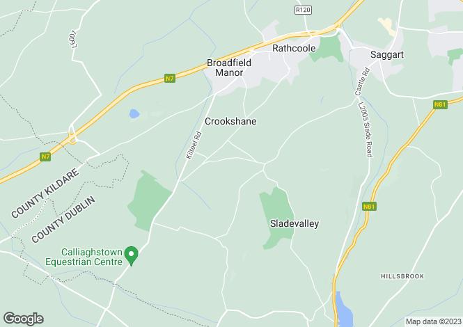 Map for 'Ashbury House', Redgap, Rathcoole, Dublin