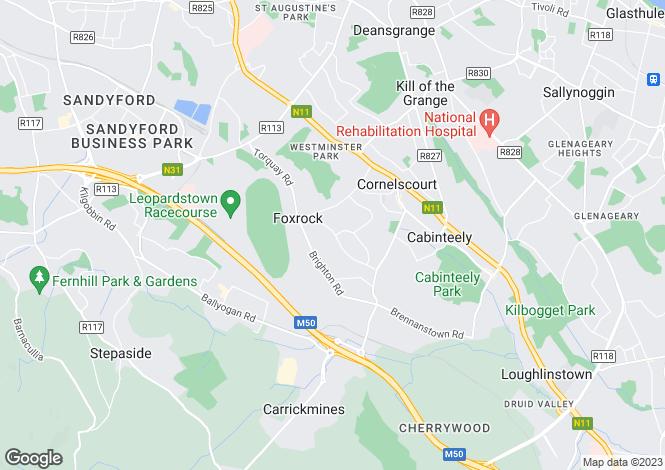 Map for Hy Brasil, Hainault Road, Foxrock, Dublin 18