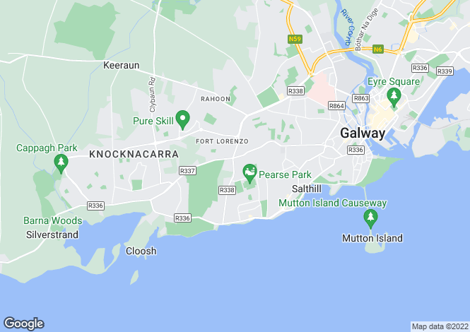 Map for 83 Threadneedle Road, Salthill, Galway, H91 AF4A