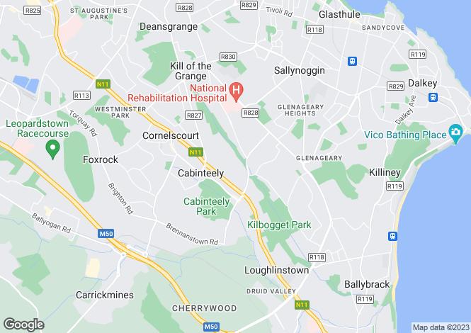 Map for 33 Cabinteely Cresent, Cabinteely, Dublin 18