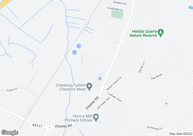 Map for Mere View, Helsby, Frodsham, Cheshire
