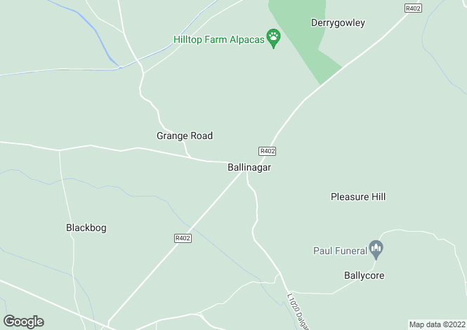 Map for Ballinagar, Tullamore, Offaly