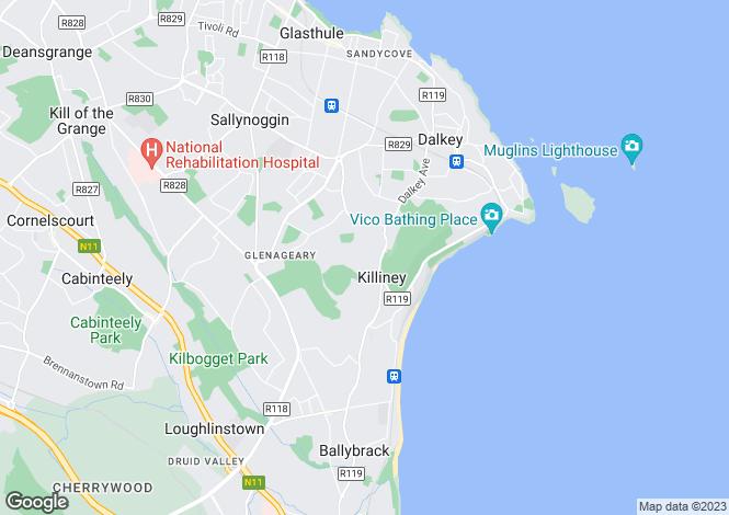 Map for 33 Rock Lodge, Killiney, Co. Dublin, A96 K2W5