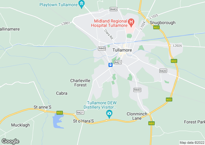 Map for An Grianan, Charleville Road, Tullamore, Co. Offaly