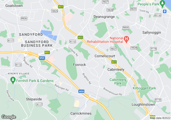 Map for Thornfield, Westminster Road, Foxrock, Dublin 18, D18 E2N1