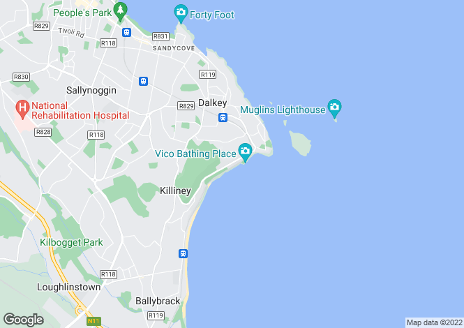 Map for Strawberry Hill House, Vico Road, Dalkey, Co Dublin, A96 K250