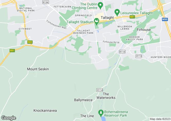 Map for Elder Heath, Kiltipper Road, Tallaght, Dublin 24