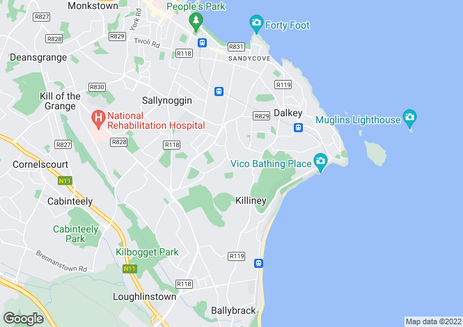 Map for Maple Lodge, Killiney Road, Killiney, Co Dublin