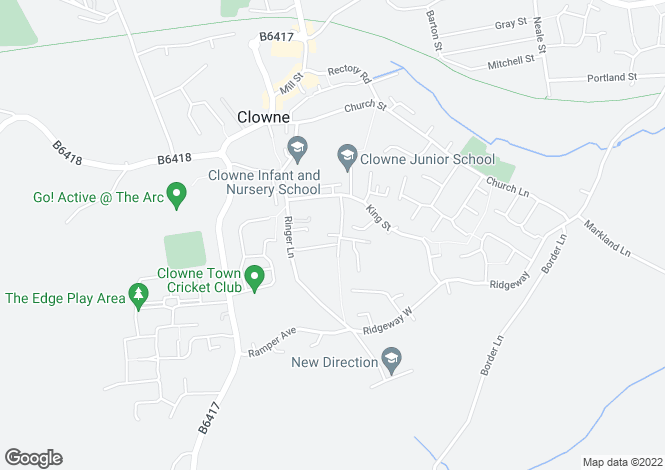 Map for Rood Lane, Clowne, Chesterfield