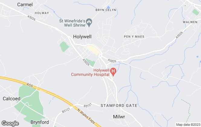 Map for Crickhowell Properties (Wales) Ltd, Flintshire