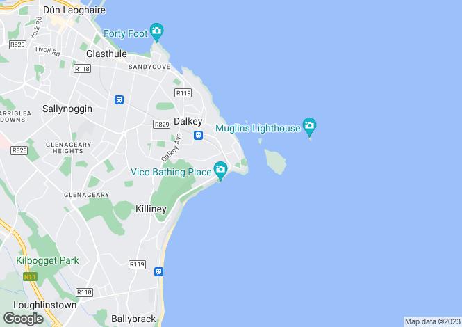 Map for Monte Alverno, Sorrento Road, Dalkey, Co Dublin, A96 C594